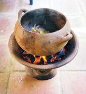 St Lucian Coal Pot