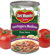 Del Monte Pasta  Sauce Green Peppers&Mushrooms