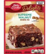 Betty Crocker Delights Supreme Walnut Brownie Mix, 16.5 oz