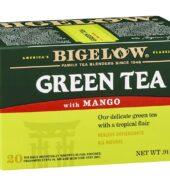 Bigelow Green Tea With Mango Tea Bags, 20 Count Box