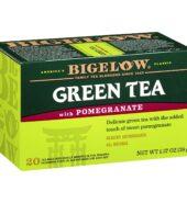 Bigelow Green Tea with Pomegranate Tea Bags, 20 Count Box