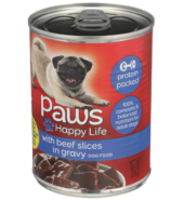 Paws Beef Sliced Gravy Dog Can 156g