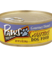 Paws Gormet Dinner Dog Can 156g