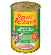 Paws Turkey Gilbet Catfood 85g