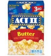 Act II Butter Popcorn 3pk