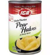 IGA Pear Halves 432G