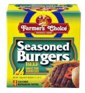 Farmers Choice Seasoned Beef Burgers 450g