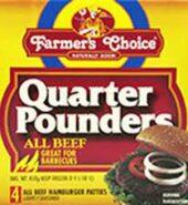 Farmers Choice 1/4 Pounder 454G