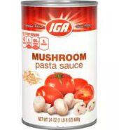 IGA Spag Sauce Mushroom 680g