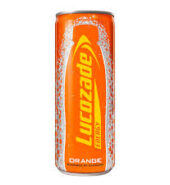 Lucozade Can Orange 250ml