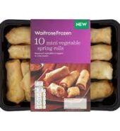 Waitrose Frozen Mini Vegtables Rolls 180g